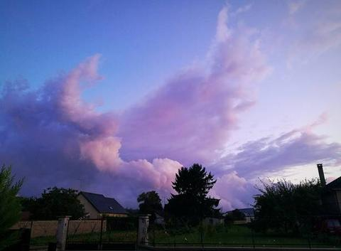 Gros passage nuageux
