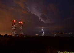 Orage Le Havre 76600 éclair ramifié au cap de la Heve