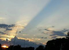 Ciel Dieppe 76200 Coucher soleil