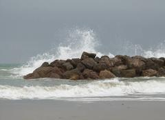Mer Frontignan 34110 Mer agitée
