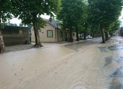 Pluie Champigny 89340 Orage violent avec inondation