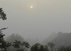 Brouillard Saint-Lo 50000 Le brouillard s'installe au petit matin sur Saint Lo