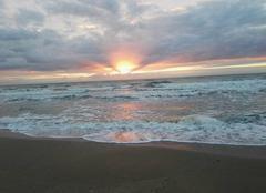 Mer Villers-sur-Mer 14640 Coucher de soleil