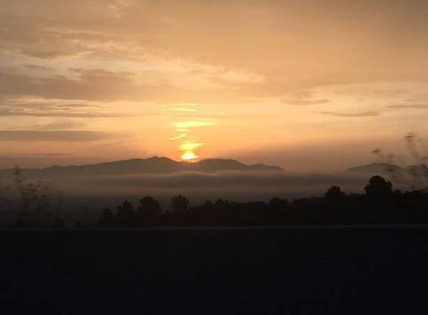Lève soleil au pays catalan