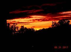 Ciel Nogaret 31540 Coucher de soleil automnal.