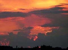 Ciel Favieres 28170 Coucher de soleil sur la campagne beaucerone