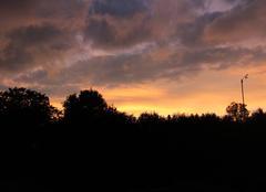 Ciel Forceville-en-Amienois 80560 Coucher de soleil esthétique sur la Somme ...