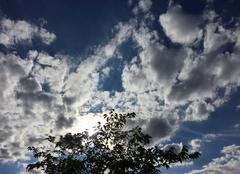Ciel Saint-Paul-les-Romans 26750 Moutons sur le soleil