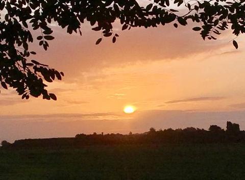 Le soleil, à son lever