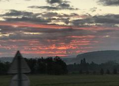 Ciel Hettange-Grande 57330 Nuage de feu