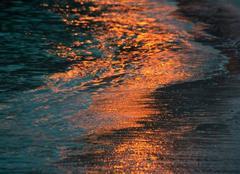Mer Ramatuelle 83350 Promenade le soir sur la plage de l'Escalet