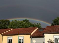 Orage Maizieres-les-Metz 57280 Un Arc en ciel et son double dominant l'orage
