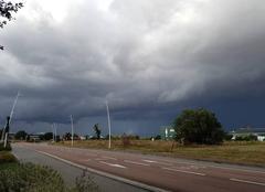 Nuages Labege 31670 Ciel menaçant au sud-est de Toulouse