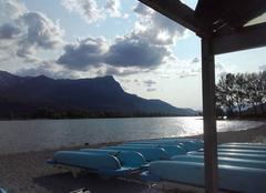 Nuages Embrun 05200 Fin de journée sur le lac....