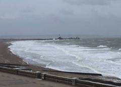 Nuages Sainte-Adresse 76310 Plage du Havre jour de vent et grisaille