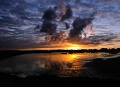 Ciel La Plaine-sur-Mer 44770 Lever de soleil au Cormier