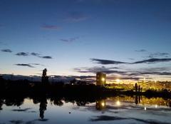 Ciel Viry-Chatillon 91170 Vue sur le lac