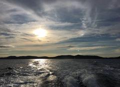 Ciel Hyeres 83400 Nuages et soleil à Porquerolles ce matin