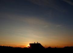 Ciel Niort 79000 Coucher de soleil de ce 18 septembre 2017