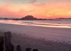 Mer Saint-Malo 35400 Coucher de soleil breton