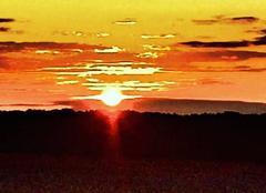 Ciel Griselles 45210 Coucher de soleil