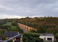Ciel Rodez 12000 Ce matin au pont de la Gascarie à Rodez