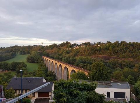 Ce matin au pont de la Gascarie à Rodez
