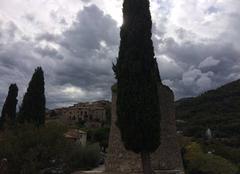 Nuages Carros 06510 L'Orage approche sur Les toits de Carros village