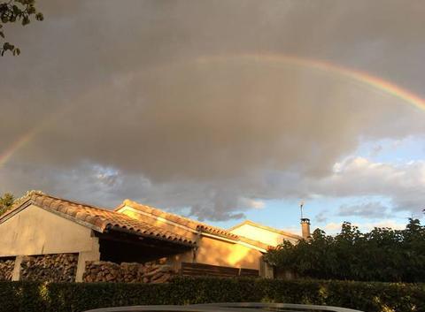 Arc-en-ciel sur Ayguesvives @marc