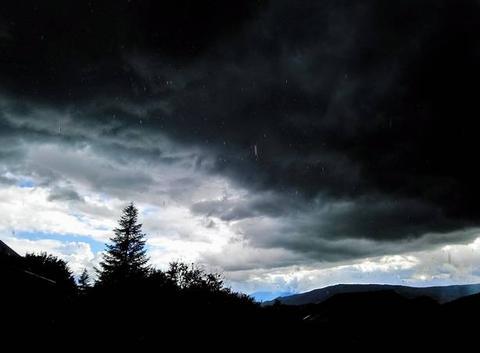 Arrivée de l'orage