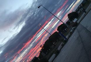 Ciel Narbonne 11100 Lever du soleil