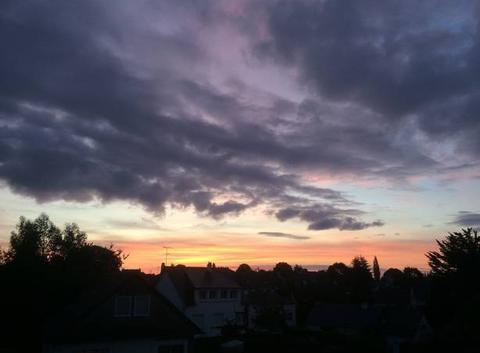 Belles couleurs matinales dans le ciel de Plouha