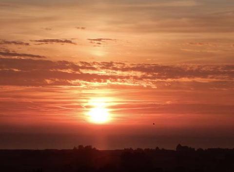 Lever de soleil sur la baie du Mt St Michel