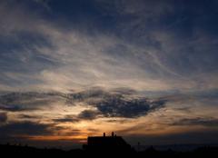 Ciel Niort 79000 Coucher de soleil de ce 21 septembre 2017