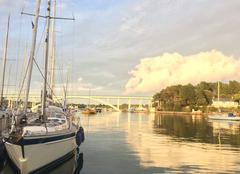 Ciel La Trinite-sur-Mer 56470 Lumière sur le pont de Kerisper