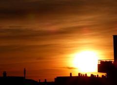 Ciel Niort 79000 Coucher de soleil de ce 22 septembre 2017