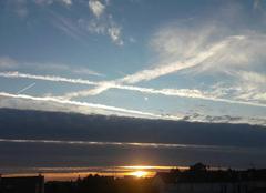 Ciel Le Perreux-sur-Marne 94170 Coucher de soleil, nuage noir et ciel bleu !!!!