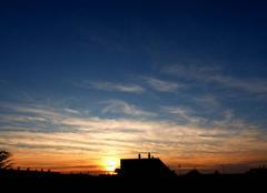 Ciel Niort 79000 Coucher de soleil de ce 23 septembre 2017