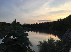 Ciel Romans-sur-Isere 26100 Crépuscule et douceur sur l'Isère