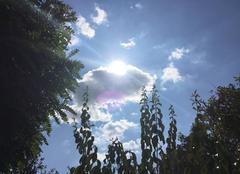 Ciel Mours-Saint-Eusebe 26540 Beau soleil d'hier après-midi