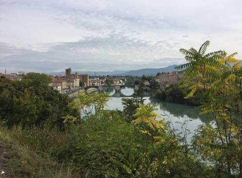 Panoramique de l'Isère à mi-journée