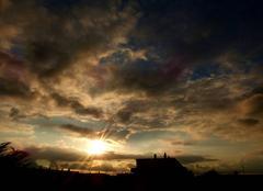 Ciel Niort 79000 Coucher de soleil de ce 25 septembre 2017