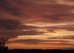 Ciel Auvilliers-en-Gatinais 45270 Coucher de soleil