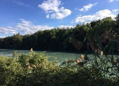Ciel Romans-sur-Isere 26100 Couleurs d'automne sur les bords d'Isère