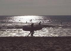 Mer Longeville-sur-Mer 85560 Surfeurs