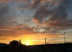Ciel Bourbriac 22390 Ciel enflammé au coucher de soleil