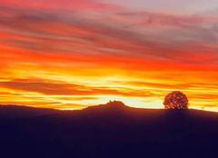 Ciel Cros-de-Georand 07510 Coucher de soleil