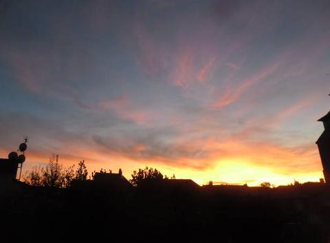 Le ciel fait des merveilles pour les artistes peintre