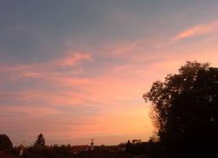 Ciel Neuville-les-Dames 01400 Coucher soleil