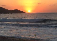 Mer Calcatoggio 20111 Couché soleil